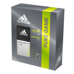 Setul cadou Adidas Pure Game contine: deodorant 150 ml si after-shave 50 ml